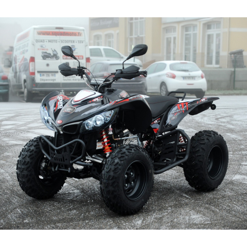 kit deco kymco maxxer 450 monster energy rouge. Black Bedroom Furniture Sets. Home Design Ideas