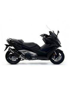 """Silencieux Race-Tech Aluminium """"Dark"""" avec embout en carbone et collecteur racing non homologué"""